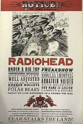 Radiohead Notice To The Public Poster 24 X 36 • 46.63£