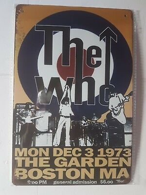 The Who Vintage Style Metal Sign Plaque Poster British Rock • 6.90£