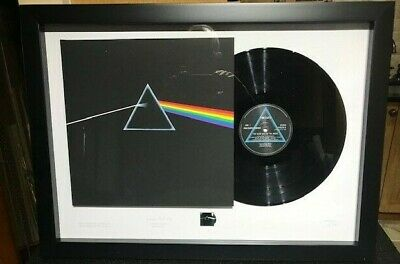 RARE Pink Floyd The Dark Side Of The Moon Stamp And Vinyl Frame • 149.34£