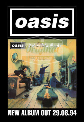 Oasis Poster - Definitely Maybe (1st Gen Reprint) • 24.99£