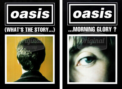 Oasis Poster - (What's The Story) Morning Glory? Black Duo Set (1st Generation R • 44.99£