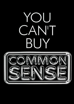 Pulp Poster - You Can't Buy Common Sense • 19.99£