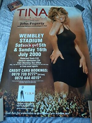 Tina Turner Live At Wembley 2000 60  X 40  Poster Like New Ultra Rare • 200£