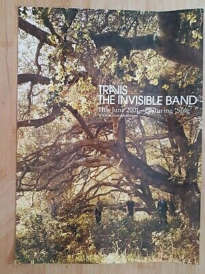 TRAVIS Magazine Print Ad For Album THE INVISIBLE BAND App 22x30cm  • 2.49£