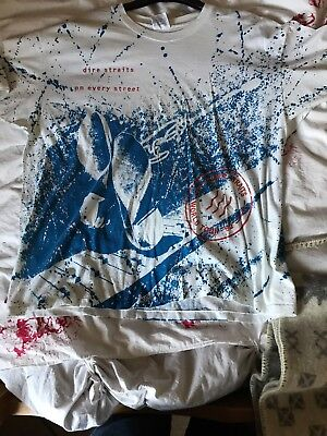 "Rare Dire Straits World Tour T Shirt 92 On Every Street 50"" Original Collectors • 95£"
