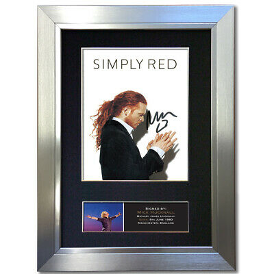 SIMPLY RED Mick Hucknall Signed Autograph Mounted Reproduction Print A4 823 • 18.99£