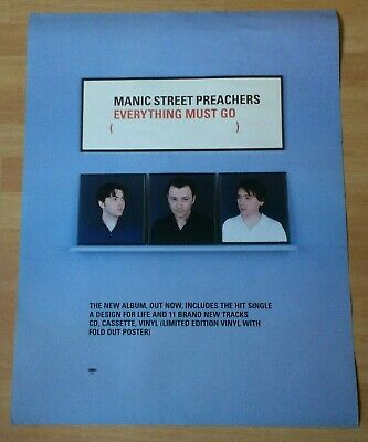 Manic Street Preachers Everything Must Go Original 1996 UK Large Promo Poster • 32£