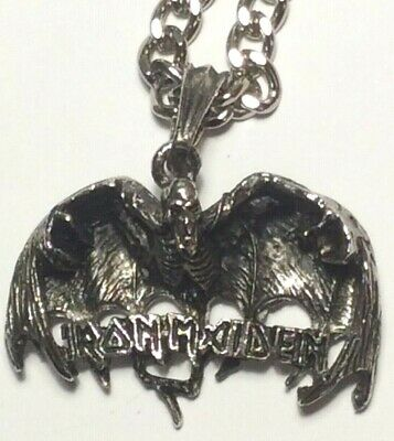 IRON MAIDEN Very Big Pendant Neklace Metal Punk Rock Roll Heavy Hard  Satan  • 9.99£