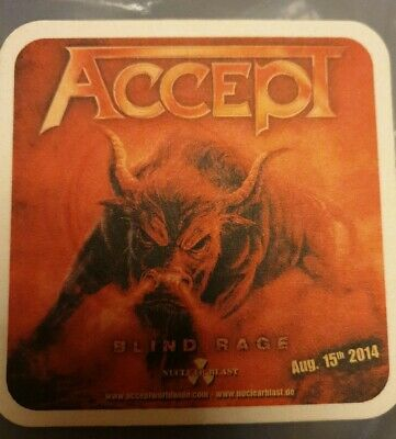ACCEPT / HAMMERFALL BEER COASTER By Metal Hammer NEW • 1.99£
