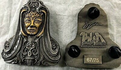 Cyber Goddess 3D Pin, Psychedelic Hatpin, Giger Art, Festival Pin • 11.04£