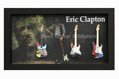 RGM9017 Eric Clapton Miniature Guitars In 20x35 Shadowbox Frame • 39.97£