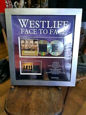 Westlife Platinum Award To Louis Walsh For Face To Face Album( 2006 )Sony Record • 1,600.48£