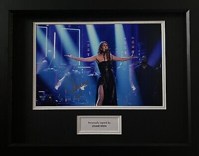 Celine Dion Genuine Hand Signed Music Photo In 16x12 Frame Display, View Proof • 269.99£