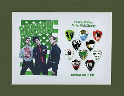 Green Day Matted Picture Guitar Pick Set Limited Number May Vary American Idiot • 23.66£