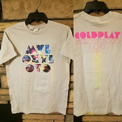 Coldplay Shirt MEDIUM Short Sleeve Graphic T 2012 World Tour MYLO XYLOTO Gray  • 18.88£