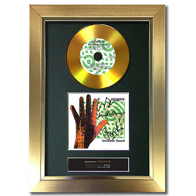 GOLD DISC GENESIS Invisible Touch Signed Autograph Mounted Print 197 • 20.99£