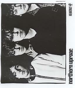 NORTHERN UPROAR Close Up Group Photo PHOTOGRAPH Heavenly B/W Promo Photo • 2.10£