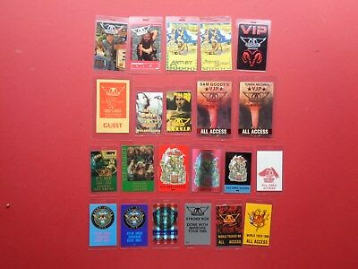 AEROSMITH, Backstage Pass Collection,89 Different,Rare Old Originals • 638.50£