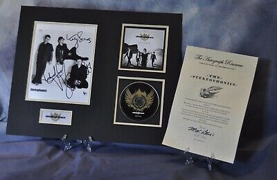 Stereophonics Signed Certified Autographed Vintage  16 X 20 CD  Display + COA • 125£