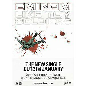 EMINEM Like Toy Soldiers POSTER UK Aftermath 2004 Promo Repro Poster For New • 10.49£