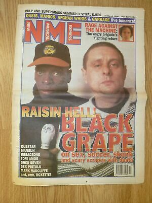NME Newspaper 30th March 1996 Shaun Ryder BLACK GRAPE Rage Against The Machine • 2.99£