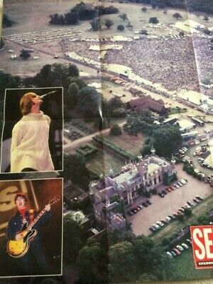 Oasis,knebworth Poster AND Carrier Bag, 1996 Vintage, Mod, Brit Pop, Gallagher • 39£