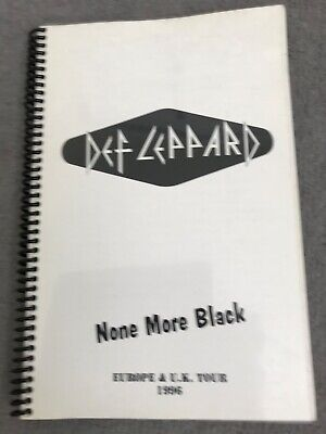 Def Leppard None More Black Europe & UK Tour Inventory Book • 110£