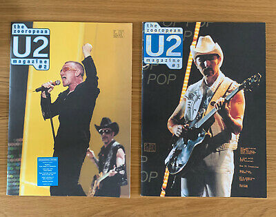 U2 Rare Vintage Zooropean Fanzine Magazines 1997 Pop Mart Tour Bundle • 17.99£