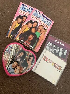 Spice Girls Official Tin Plus 2x Books And 2x CDs • 6£