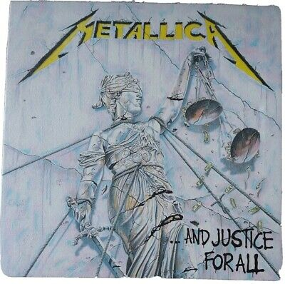 Metallica And Justice For All 1988 Album Cover Stretched Canvas Art Poster Print • 10£