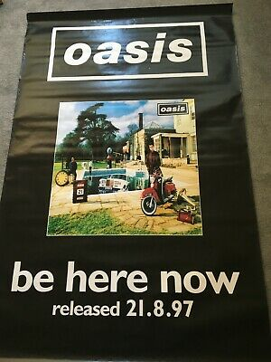 Oasis  Promo  Poster From Window Of HMV Oxford Street 97  Rare - Massive 6ft • 200£