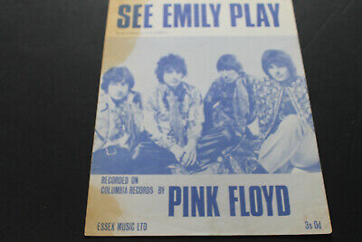 Pink Floyd Sheet Music. See Emily Play. 3/- Syd Barrett. Stained But V Rare!!!! • 115£