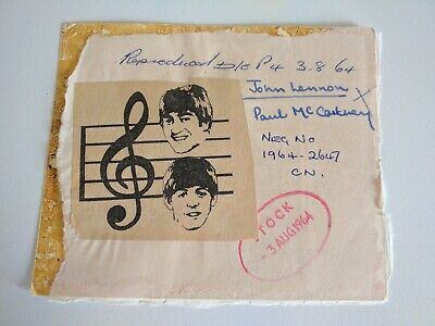 A Really Unusual Beatles Collectable. Featuring Lennon And McCartney. From 1964 • 20£