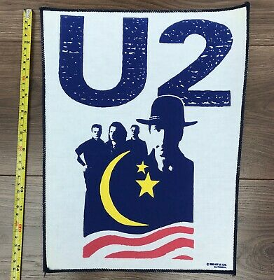 U2 Rare UK Vintage Back Patch From 1990 • 12.99£