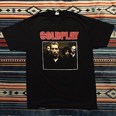 Coldplay Viva La Vida World Tour Shirt Size Mens Large Black Double Sided Dates • 27.94£