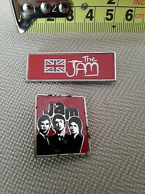 2 X VINTAGE 1970s/80s 45 Mm THE JAM BADGE IN THE CITY WELLER MODS PIN BADGE No11 • 16.95£