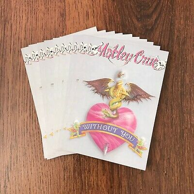 MOTLEY CRUE Set Of 10 Without You Vintage Postcards • 4.99£