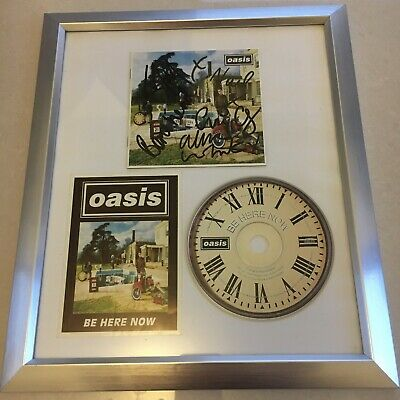 Oasis Be Here Now Signed Framed Album By All 5 Members With COA • 1,500£