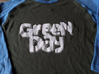 GREEN DAY Vintage Raglan Long/SleveT-Shirt Deadstock Good Condition Medium • 10£