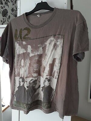 U2 The Unforgettable Fire Tour Original Vintage T-shirt 1984 Size Large. • 80£