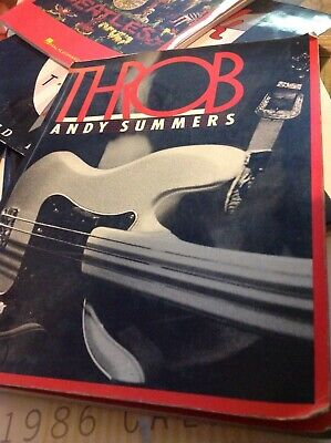 Throb...Andy Summers (The Police).. 1983 Large Photo Book..forst • 6.99£