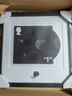 David Bowie Royal Mail Framed Black Star • 65£
