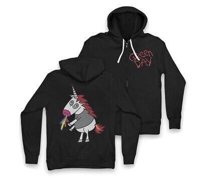 Green Day Father Of All....... Black Unicorn Zip-up Hoodie. Size - Medium. • 44.99£