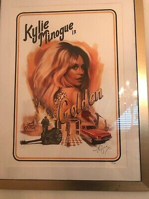 Kylie Minogue Golden Tour Signed & Numbered Litho Lithograph Poster RARE!!! • 199.99£