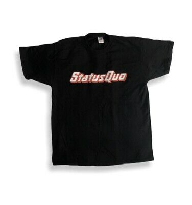 Men's Status Quo-Reunite For One Final Time Tour 2014 Black T Shirt Size XL • 14.99£