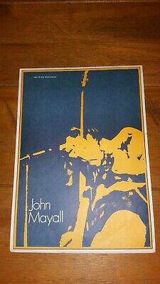 John Mayall 1970 UK Tour Programme + Ticket (Duster Bennet) EXCELLENT CONDITION! • 24.99£