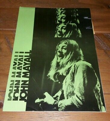 Vintage Rare John Mayall 1971 UK Tour Programme + Ticket IN EXCELLENT CONDITION! • 24.99£
