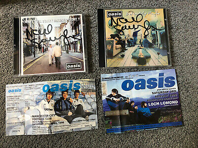 Oasis COLLECTORS Autographed Signed Albums CDs Noel Gallagher PROMO • 300£