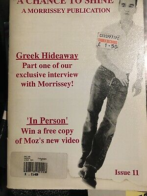 A Chance To Shine  A Morrissey Fanzine Issue 11 The Smiths • 22£