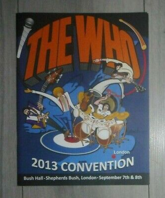 The Who Fan Convention 2013 ,programme , Daltrey ,,entwistle ,moon ,townshend • 8.99£